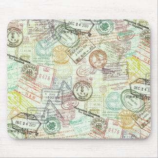 Passport Stamp Print Mousepad