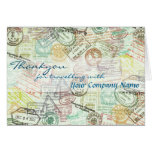 Passport stamp Travel Greeting Card-Thank you Card