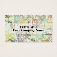Passport Stamp Travel Print Business Card at Zazzle