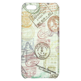 Passport Stamps Case For iPhone 5C