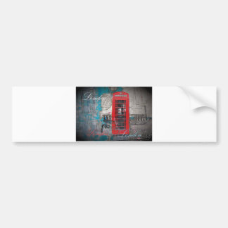 passport stamps London Red Telephone Booth Bumper Sticker
