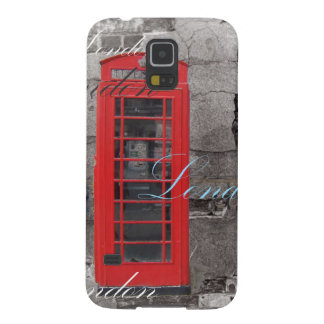 passport stamps London Red Telephone Booth Case For Galaxy S5