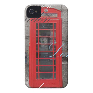 passport stamps London Red Telephone Booth Case-Mate iPhone 4 Case
