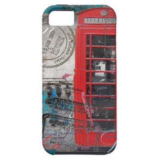 passport stamps London Red Telephone Booth iPhone SE/5/5s Case