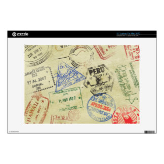 "Passport Stamps Skin - Generic Laptops Skins For 13"" Laptops"