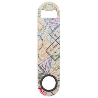 Passport Stamps Travel Bar Key