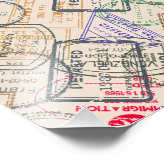 Passport Stamps Travel Photo Print