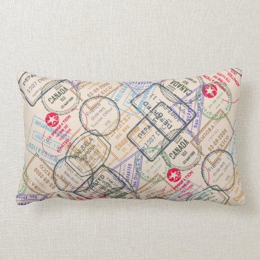 Passport Stamps Travel Throw Pillow Zazzle