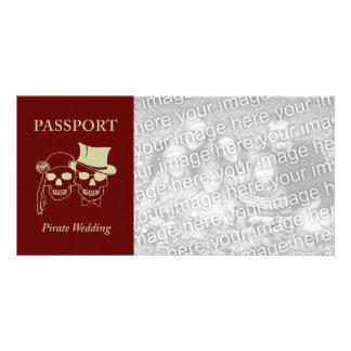 passport to a pirate wedding card