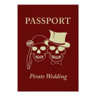 passport to a pirate wedding invites