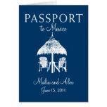 Passport to Mexico Wedding Greeting Cards