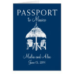 Passport to Mexico Wedding Stationery Note Card