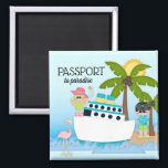 """Passport to Paradise Cruise Boat Ship Beach Magnet<br><div class=""""desc"""">Custom Magnet - Created by JoSunshine Designs Copyright 2018 JoSunshine and LICENSORS. In most cases, all text can be modified. Need help customising or need a custom design? Have another colour in mind? JoSunshine can create a custom design for you. Just contact me at using the link on my home...</div>"""