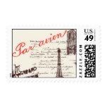 Passport to Paris B - by Ceci New York Postage Stamps