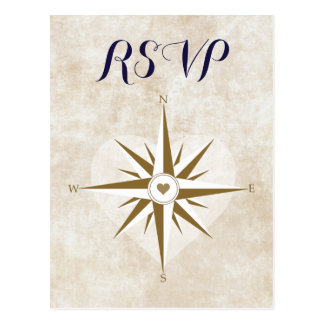 Passport Travel RSVP Postcard Destination Wedding
