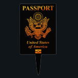 """PASSPORT (USA) CAKE TOPPER<br><div class=""""desc"""">PASSPORT United states of America. Just wore this you are accustomed to the American.</div>"""