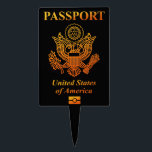 "PASSPORT (USA) CAKE TOPPER<br><div class=""desc"">PASSPORT United states of America. Just wore this you are accustomed to the American.</div>"