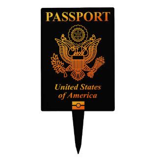 PASSPORT (USA) CAKE TOPPER