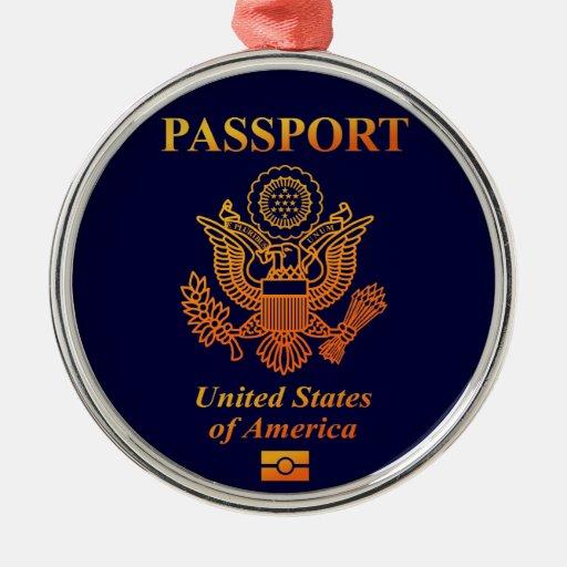 PASSPORT (USA) CHRISTMAS ORNAMENTS