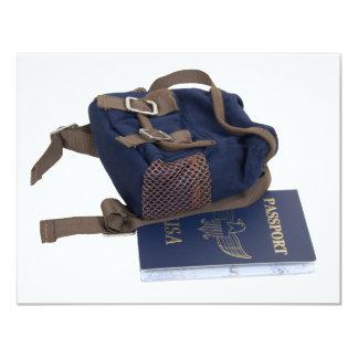 "PassportBackpack080509 Invitación 4.25"" X 5.5"""