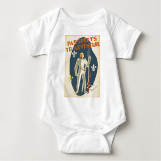 Passports to Adventure: Knights and Books Baby Bodysuit