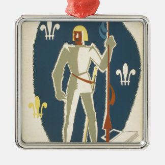 Passports to Adventure: Knights and Books Metal Ornament