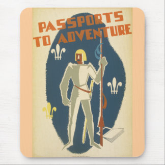Passports to Adventure: Knights and Books Mouse Pad