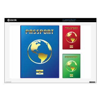 Passports Vector blue red green Decals For Laptops