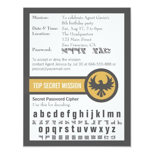 Password secret agent birthday party invitation zazzle password secret agent birthday party invitation filmwisefo