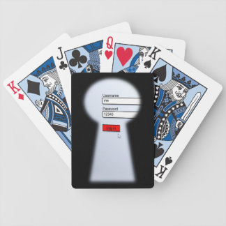 Password Security Bicycle Playing Cards