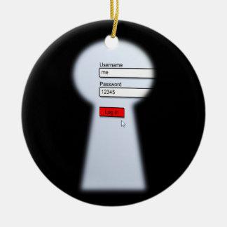 Password Security Ceramic Ornament