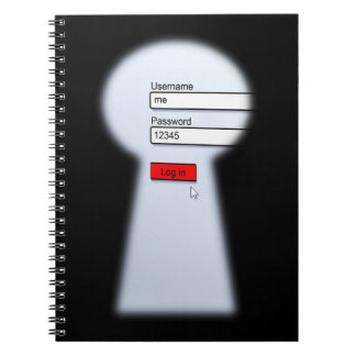 Password Security Spiral Notebook