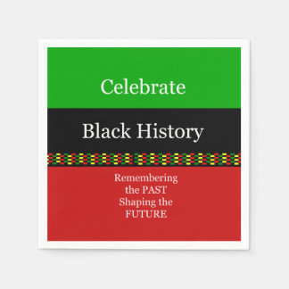 Past And Future BHM Party Paper Napkins