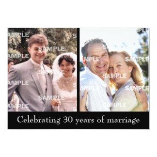 Past and Present 30th Anniversary Invitation
