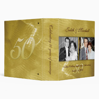 "Past and Present Golden (50th) Anniversary 2"" 3 Ring Binder"