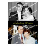 Past and Present Golden Anniversary Invitation