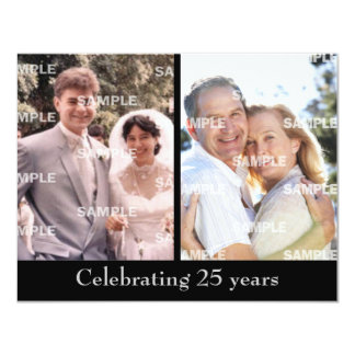 Past and Present Silver Anniversary Card
