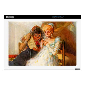 past and present, then and now by Goya Laptop Decal