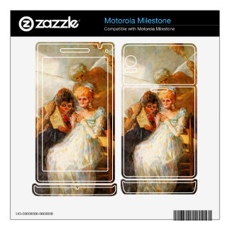past and present then and now by Goya Motorola Milestone Decal
