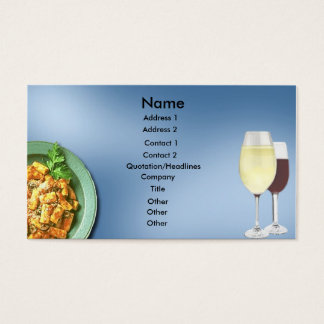 Past and Wine Business Card