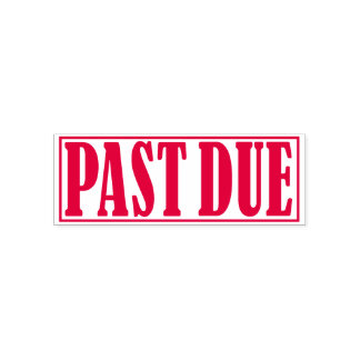 Past Due Payment Notice Collection Reminder Office Self-inking Stamp