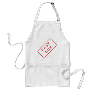 Past Due Stamp in red Adult Apron