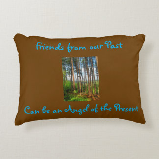 Past Friends are Our Angels Woods Pillow