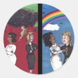 Past Hatred, Present Love Round Sticker