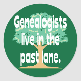 Past Lane Classic Round Sticker