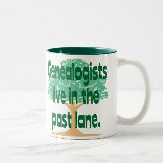 Past Lane Two-Tone Coffee Mug
