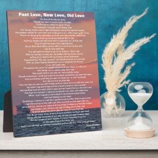 Past Love New Love Old Love Poem Ocean Ship Photo Plaque