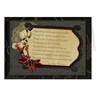 Past Love Poem Card