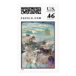 Past Many Horizons Postage Stamp