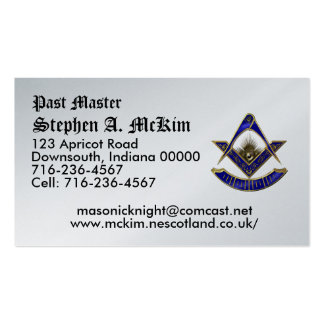 Past Master  Business Card